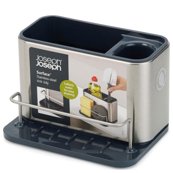kitchen sink tidy joseph joseph surface sink tidy stainless steel homeware 2938