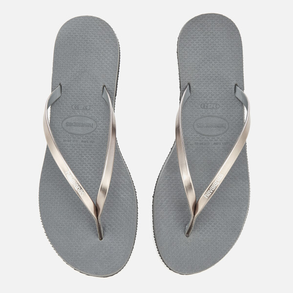 c4ca8b5e1380 Havaianas Women s You Metallic Flip Flops - Steel Grey Womens ...