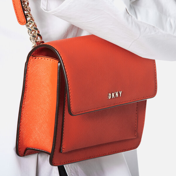 c1b06219fc4 DKNY Women s Bryant Park Mini Flap Cross Body Bag - Orange  Image 3