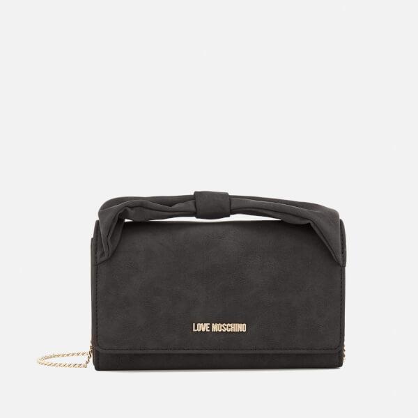 Love Moschino Women's Bow Cross Body Bag - Black