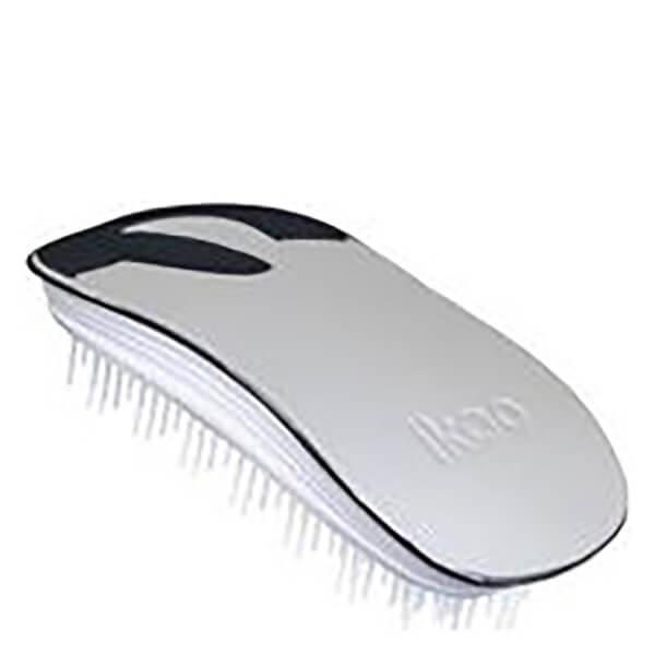 ikoo Home Hair Brush - White - Oyster Metallic