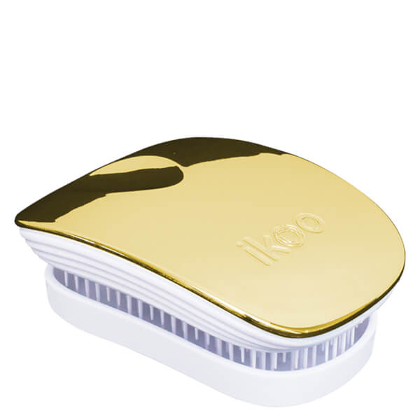 ikoo Pocket Hair Brush - White - Soleil Metallic