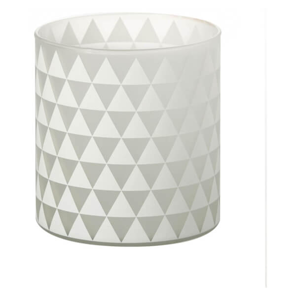 Parlane Triangles Glass Tealight Holder - White (13 x 12cm)