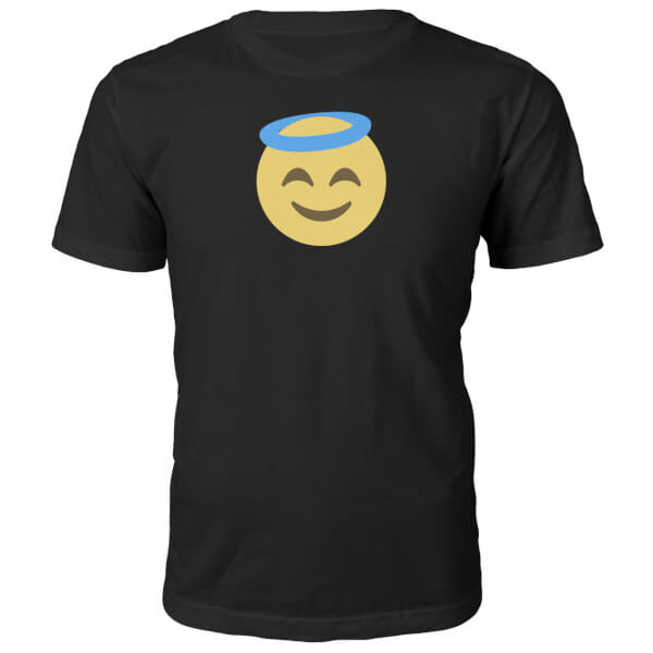 T-Shirt Unisexe Emoji Ange -Noir