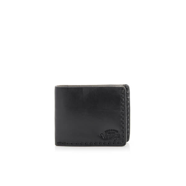 Jack & Jones Men's Vintage Leather Wallet - Black