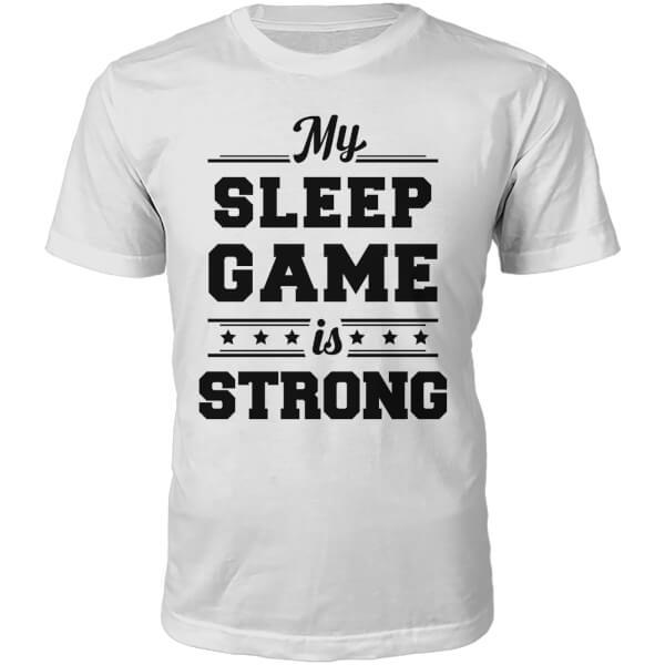 T-Shirt Unisexe Sleep Game -Blanc