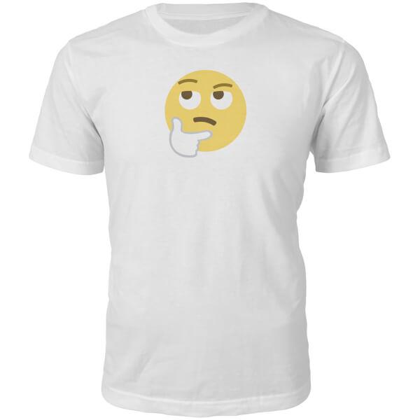 Emoji Unisex Hmm Face T-Shirt - White