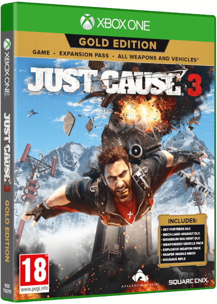just cause 3 gold edition xbox one zavvi australia. Black Bedroom Furniture Sets. Home Design Ideas
