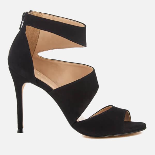 Carvela Women's Gene Suede Triple Strap Heeled Sandals - Black
