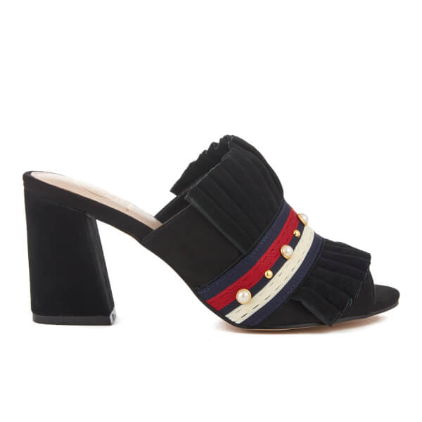 KG Kurt Geiger Women's Mistres Suede Heeled Mule Sandals - Black