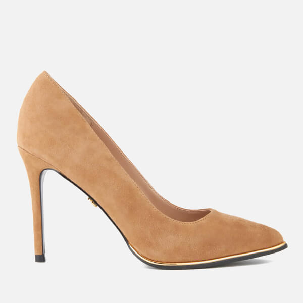 KG Kurt Geiger Women's Beauty Suede Court Shoes - Nude