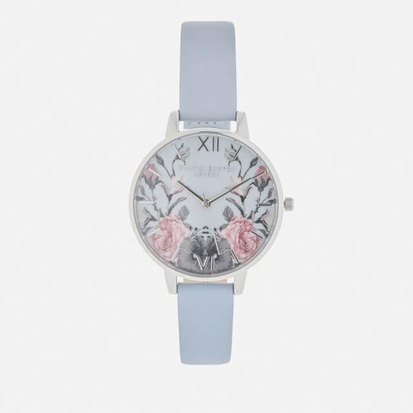 Olivia Burton Women's Enchanted Garden Watch - Chalk Blue/Silver
