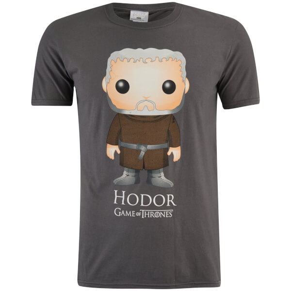 Game of Thrones Men's Hodor Funko T-Shirt - Grey