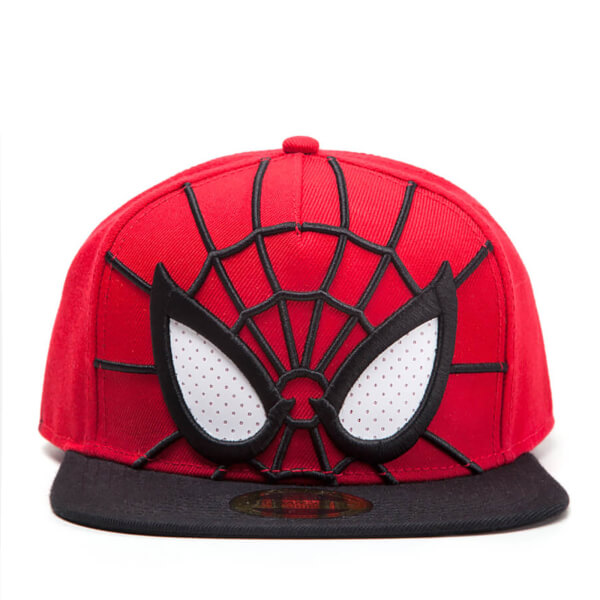 Marvel Spider-Man 3D Mesh Eyes Snapback Cap - Red/Black