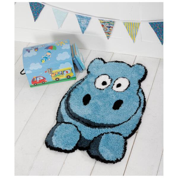 Flair Plush Animals Rug - Hillary Hippo Blue (60X90)