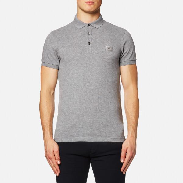 Boss orange men 39 s pavlik short sleeve polo shirt grey for Orange polo shirt mens