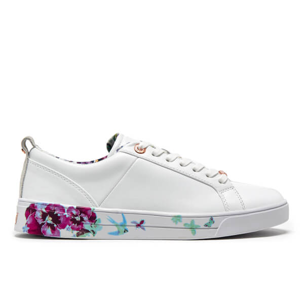 Ted Baker Women's Barrica Leather Cupsole Trainers - White