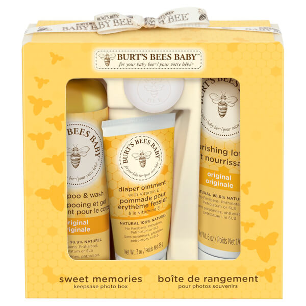 Burt's Bees Baby Bee Sweet Memories Gift Set with Keepsake Photo Box