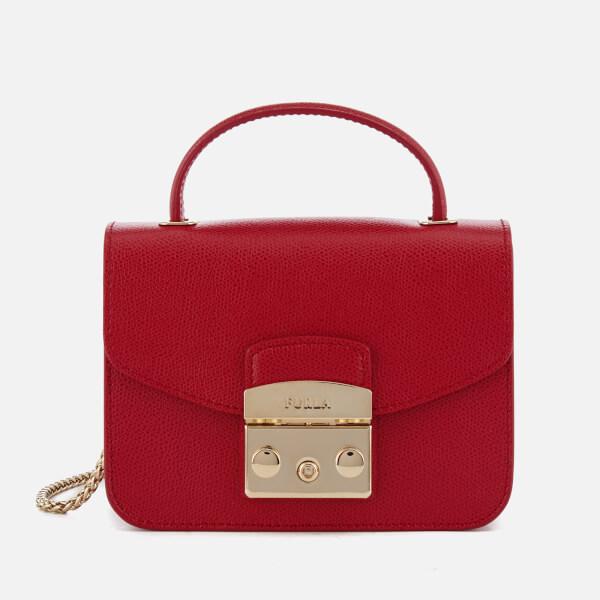 Furla Women's Metropolis Mini Top Handle Bag - Ruby