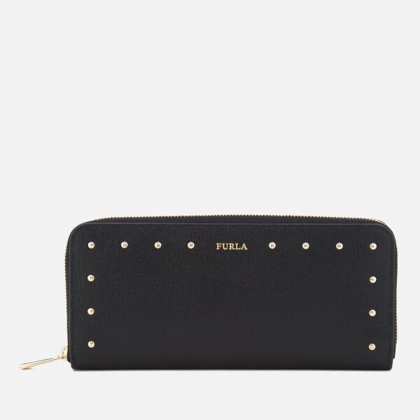 Furla Women's Gioia XL Zip Around Bag - Black