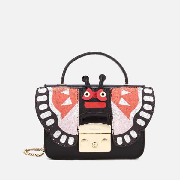 Furla Women's Metropolis Doodle Mini Top Handle Bag - Black/Ruby