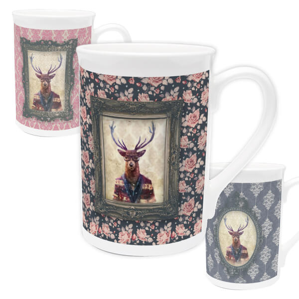 Deer Bone China Mug