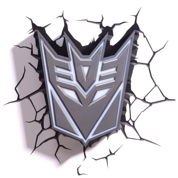 Transformers 3D Decepticon Shield Wall Light