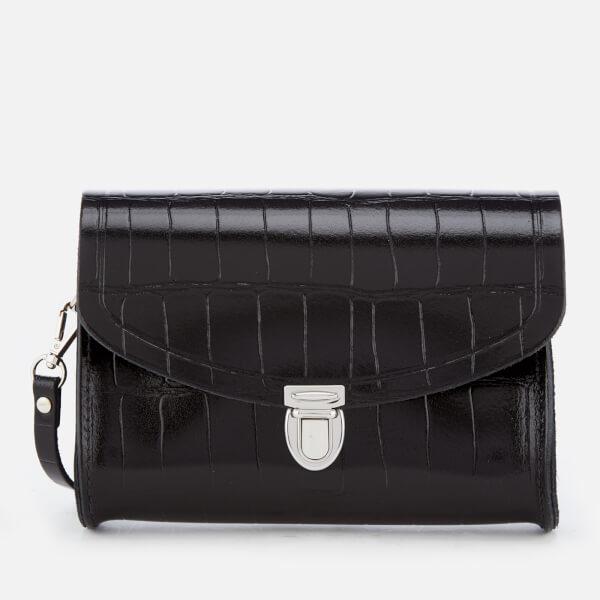 The Cambridge Satchel Company Women's Push Lock Bag - Black Patent Croc