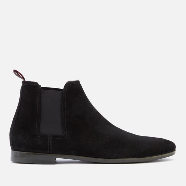 HUGO Men's Pariss Suede Chelsea Boots - Black