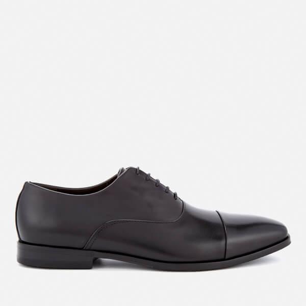 BOSS Hugo Boss Men's High Line Leather Toe Cap Oxford Shoes - Black