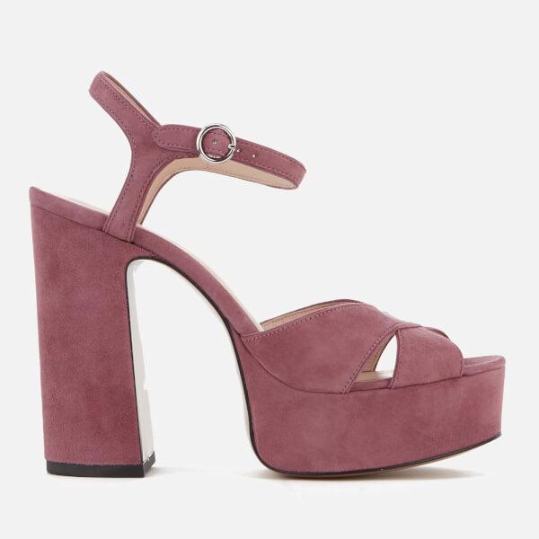 Marc Jacobs Donna Lust Pelle Platform Heeled Sandalo Dusty