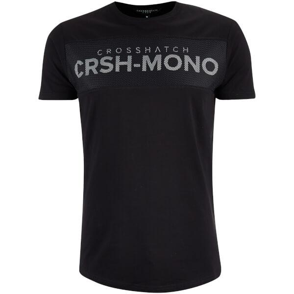 Crosshatch Men's Maffle T-Shirt - Black