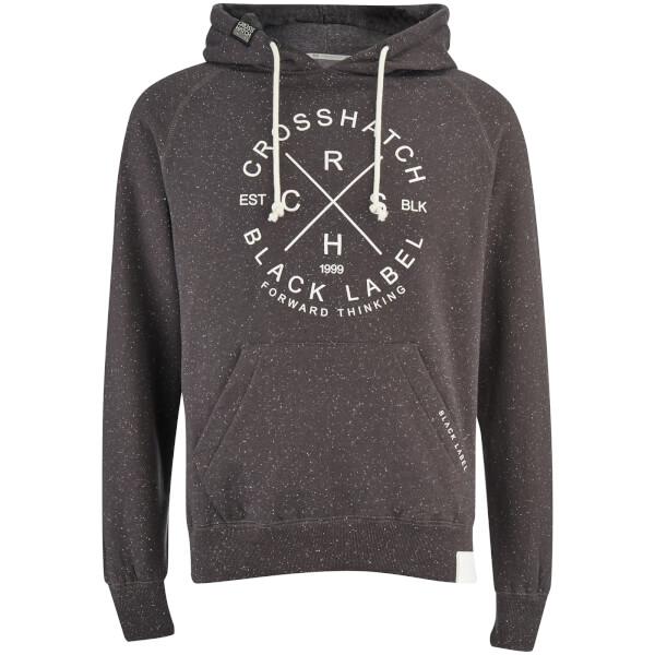 Crosshatch Men's Fizzy Fleck Fabric Hoody - Magnet Grey