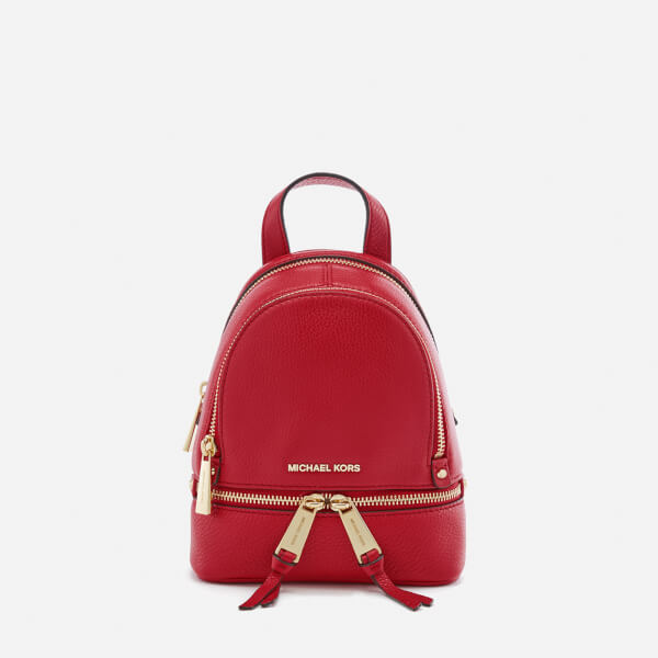 MICHAEL MICHAEL KORS Women's Rhea Zip Extra Small Backpack - Bright Red