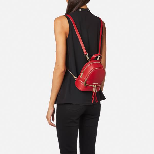 dc8a17fa9a8d MICHAEL MICHAEL KORS Women s Rhea Zip Extra Small Backpack - Bright Red   Image 2