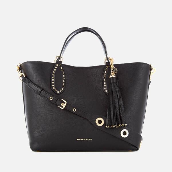 3d22075970d4 MICHAEL MICHAEL KORS Women's Brooklyn Large Grab Bag - Black: Image 1