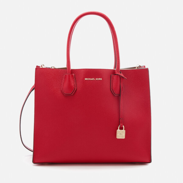 Michael Kors Women S Mercer Large Conversational Tote Bag Bright Red Image 1