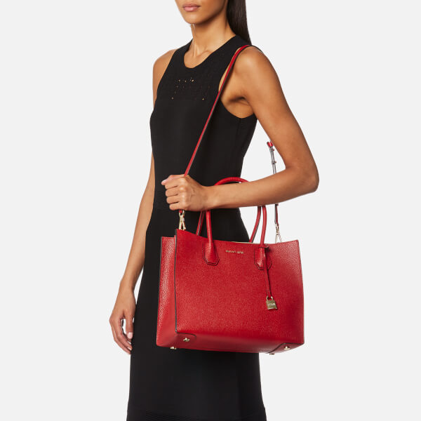 74ad077149f8 MICHAEL MICHAEL KORS Women s Mercer Large Conversational Tote Bag - Bright  Red  Image 2