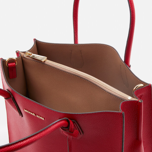 4e7bed43ce5a MICHAEL MICHAEL KORS Women s Mercer Large Conversational Tote Bag - Bright  Red  Image 5