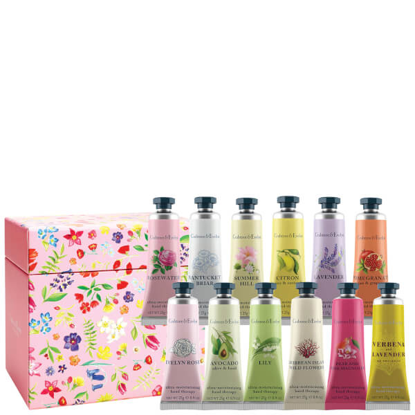 Crabtree & Evelyn Hand Therapy Gift Set - Pink - 12 x 25g (Worth £96)