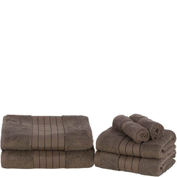 Highams 100% Egyptian Cotton 6 Piece Towel Bale (500 gsm) - Chocolate