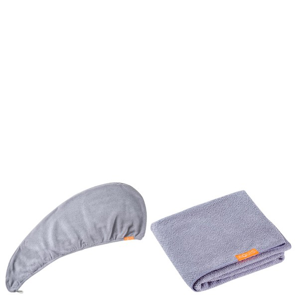 Aquis Lisse Luxe Hair Turban and Hair Towel - Cloudy Berry Bundle (Worth £65)