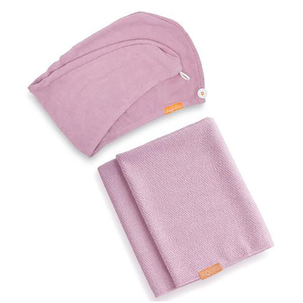 Aquis Lisse Luxe Hair Turban and Hair Towel - Desert Rose Bundle (Worth £60)