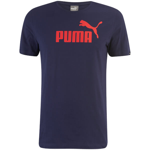 Puma Men's Essential Logo T-Shirt - Peacoat