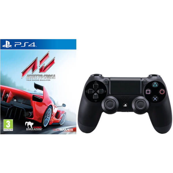 Assetto Corsa with Sony PlayStation 4 DualShock 4 Controller Black