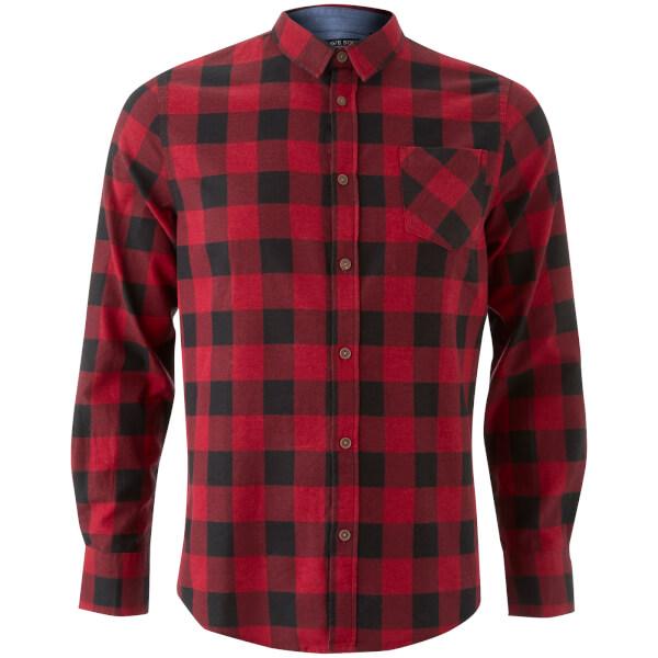 Chemise à Carreaux Homme Jack Brave Soul - Rouge