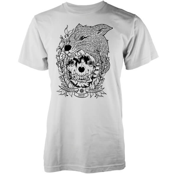 Abandon Ship Men's Skinned Fox T-Shirt - White