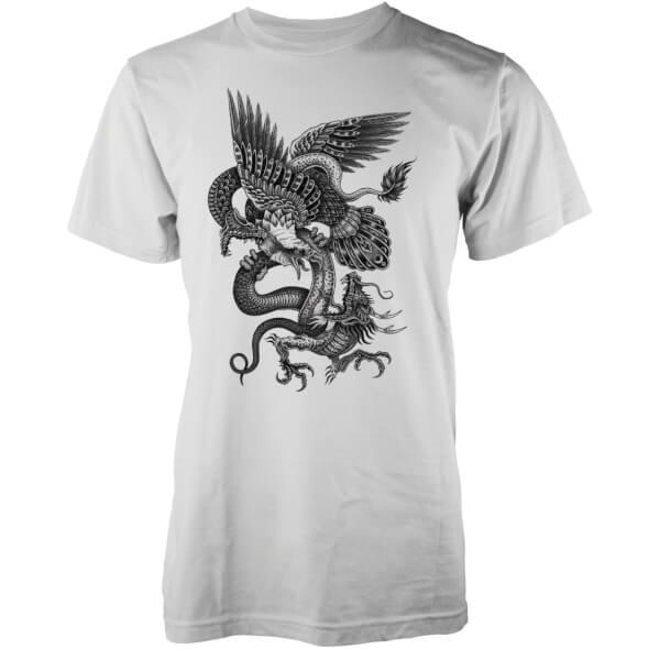 T-Shirt Homme Aigle Dragon et Serpent Abandon Ship -Blanc