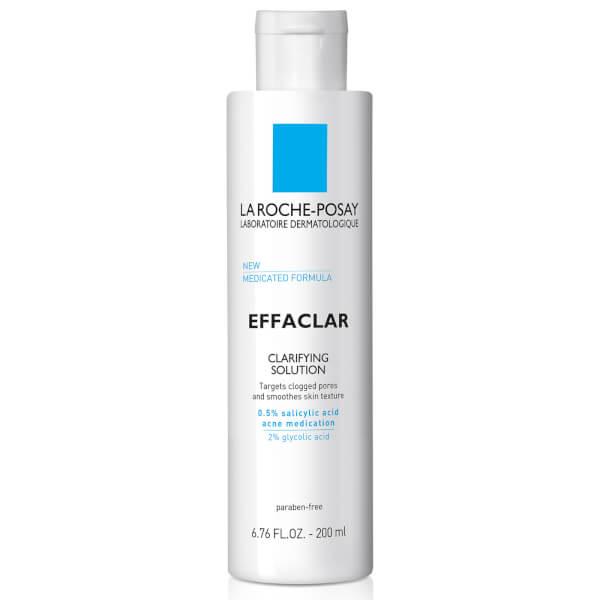 La Roche-Posay Effaclar Clarifying Solution Facial Toner for Acne Prone Skin with Salicylic Acid and Glycolic Acid, 6.76 Fl. Oz.