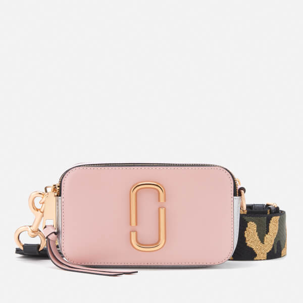 e212d39ba568 Marc Jacobs Women s Snapshot Cross Body Bag - Pale Pink Multi  Image 1